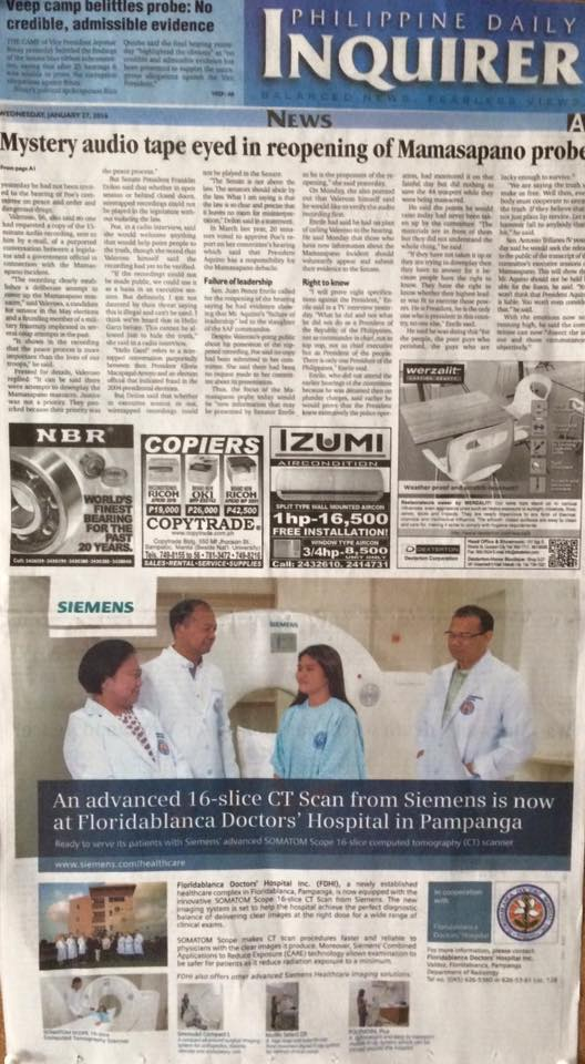 FDHI featured in Philippine Daily Inquirer
